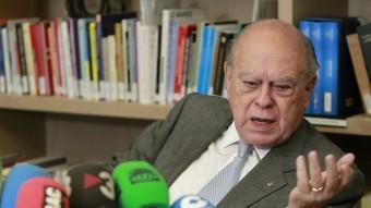L'expresident de la Generalitat, a la roda de premsa d'aquest dilluns