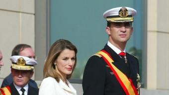 El prínceps d'Astúries, Felip i Letizia, en un acte a Barcelona LLUÍS CRUSET / ARXIU