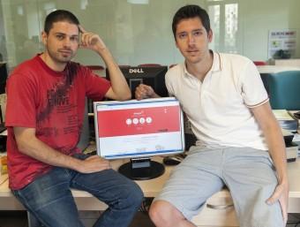 Els dos fundadors de Dareyoo, Eric Marcos i Josep Comas.  JOSEP LOSADA