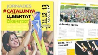 La portada i dues de la pàgines de la guia EL PUNT AVUI