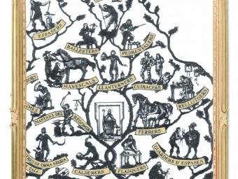 Fragment de l'Arbre dels Gremis de Joan Vila.  ARXIU / FOMENT DEL TREBALL
