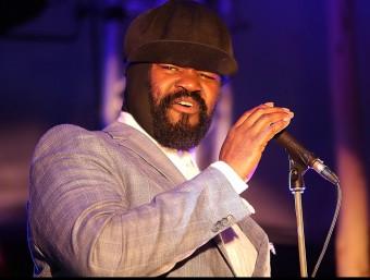 Gregory Porter, durant el seu concert al Mas Sorrer MANEL LLADÓ
