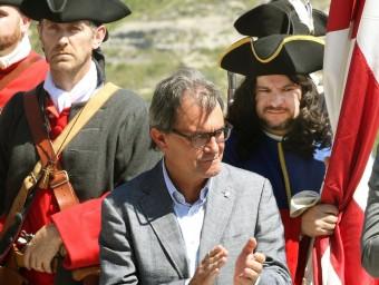 Artur Mas, en l'acte de commemoració del tricentenari de la Batalla de Talamanca EFE