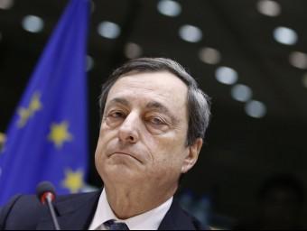 El BCE, presidit per Mario Draghi, va rebaixar el preu del diner del 0,15% fins al 0,05%  ARXIU