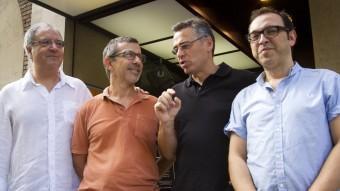 Equip estel·lar. JORDI BOSCH, JORDI BOIXADERAS, JORDI GALCERAN I SERGI BELBEL. L'EQUIP D'EL CRÈDIT A. SALAMÉ