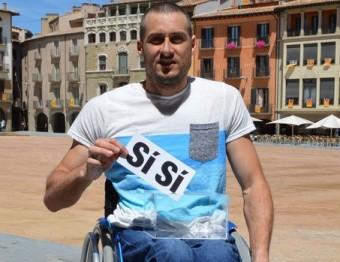Roger Puigbò, a la Plaça Major de Vic PLATAFORMA PRO SELECCIONS CATALANES