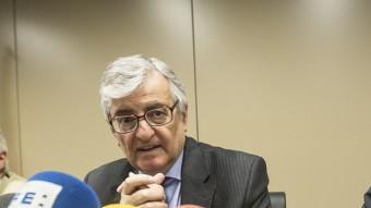 El fiscal general de l'Estat, Eduardo Torres-Dulce,a mb el fiscal superior de Catalunya, José M. Romero de Tejada, en una imatge recent ALBERT SALAMÉ