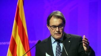 El president de la Generalitat, Artur Mas, dimarts passat QUIM PUIG