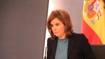 La vicepresidenta espanyola, Soraya Sáenz de Santamaría ACN