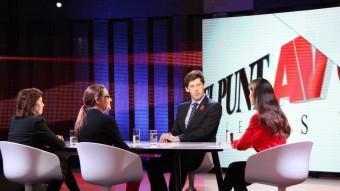 Un moment del debat dels observadors del 9-N emès ahir per El Punt Avui TV ANDREA CASINO