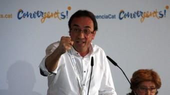 El coordinador general de CDC, Josep Rull, en el Consell Nacional ACN