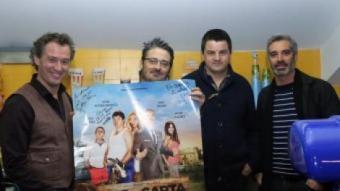 El director gironí va presentar ahir el film als Ocine Girona, acompanyat pels actors Marcel Tomàs, Andoni Agirregomezkorta i Adrià Collado MANEL LLADÓ