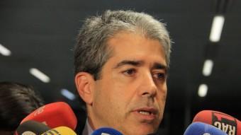 El portaveu del govern, Francesc Homs, aquest dimecres en una atenció als mitjans ACN