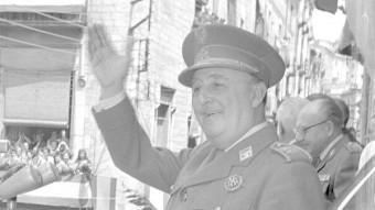 El dictador Francisco Franco durant la visita que va fer a Girona el 17 de maig del 1960 Foto:FONT: AJUNTAMENT DE GIRONA. CRDI
