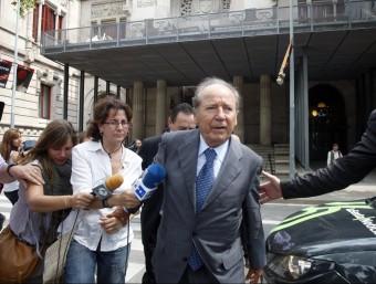 L'empresari Josep Lluís Núñez, a la sortida d'una vista del judici pel cas Hisenda, el 2011 ORIOL DURAN