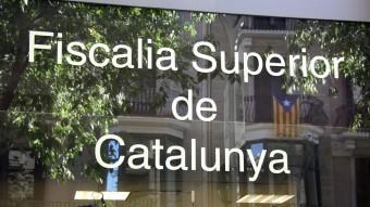 Detall de la façana de la seu de la Fiscalia Superior de Catalunya ACN