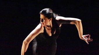 María Pagés , ahir al migdia en un assaig al Teatre Municipal de Girona. JOAN SABATER