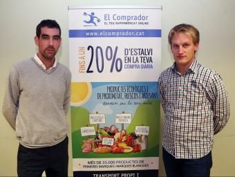 Els creadors d'Elcomprador.cat, Àlvaro Díez i Josep Maria Vallvé.  JUANMA RAMOS