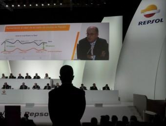 Última junta d'accionistes de Repsol.  AFP