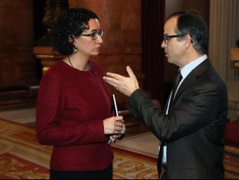 Marta Rovira i Jordi Turull en una imatge d'arxiu JUANMA RAMOS