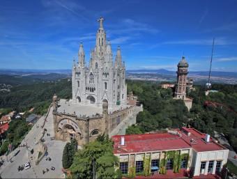 Panoràmica del parc d'atraccions del Tibidabo de Barcelona.  ARXIU /JUANMA RAMOS
