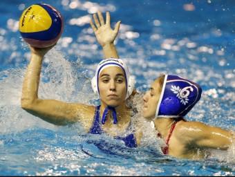 Anni Espar, en una imatge d'arxiu, va marcar dos gols en el partit que les catalanes van guanyar a Lilla EFE