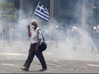 Les polítiques d'austeritat han colpejat el poble grec.  Foto:ARXIU