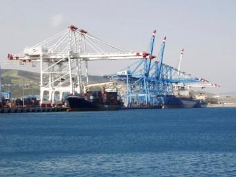 Imatge del port Tanger Med, inaugurat el 2007, una de les infraestructures més importants per al país nord-africà.  Foto:ARXIU/AMDI