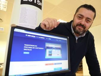 Carlos Jiménez va fundar Tellmebye el 2013.  ANDREU PUIG