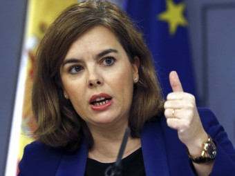 Soraya Sáenz de Santamaría, vicepresidenta del govern espanyol EFE