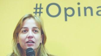 Tania Sánchez ha passat de ser un dels personatges polítics amb més projecció dins IU a desaparèixer de la cursa electoral pel 24-M EFE