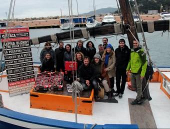 Els organitzadors i patrocinadors van presentar la tercera edició del festival Ítaca, ahir al matí, en un vaixell a Llafranc E.A