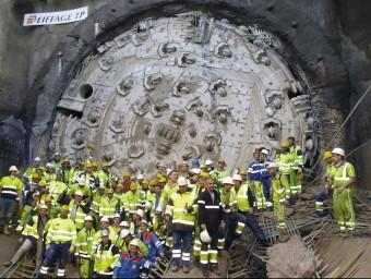 Instantània de la finalització del túnel del Pertús.  ARXIU