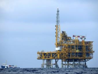 Imatge de la plataforma del projecte Castor, davant la costa de Castelló.  ARXIU