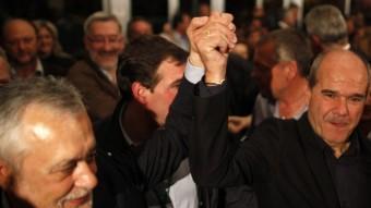 José Antonio Griñán i Manuel Chaves, en una imatge de les eleccions andaluses del 2012 REUTERS
