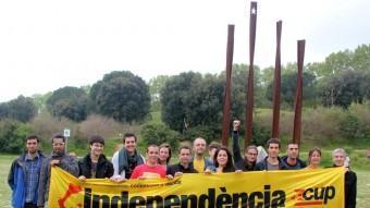 Imatge de família de la majoria dels candidat/es de la CUP del Maresme. CUP MARESME