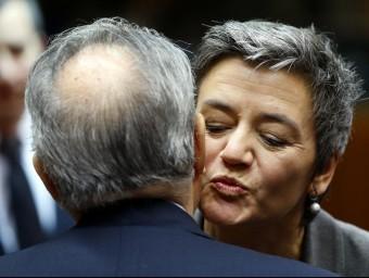 La comissaria de Competència, Margrethe Vestager, ha desafiat Google i Gazprom.  REUTERS