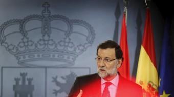 El president del govern espanyol, Mariano Rajoy, aquest divendres a La Moncloa REUTERS