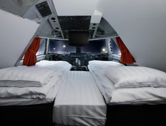 Jumbo Stay és un avió reconvertit en un hotel amb capacitat per a 84 hostes.  Foto:JUMBO STAY