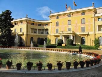 Palau Reial de Pedralbes, seu de la Unió pel Mediterrani.  ARXIU