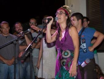 Imatge de la reina de les Nyacres, Gemma Balagué, de la 13a trobada de cantadors d'Espolla XEVI VILAREGUT