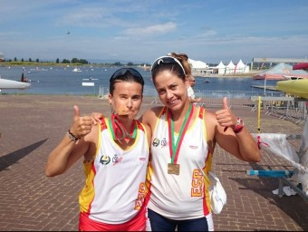 Valderas (esquerra) amb Araceli Montero