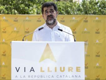 El president de l'ANC, Jordi Sánchez, el dia que van presentar el Via Lliure ALBERT SALAMÉ