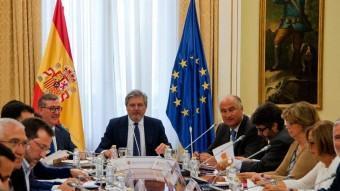 Íñigo Méndez de Vigo en la reunió amb els consellers d'educació, a Madrid EUROPA PRESS