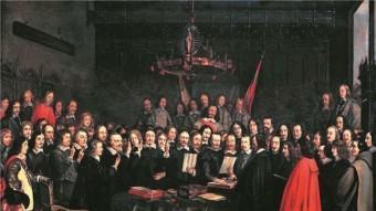 La firma del tractat de Münster, que formava part de la pau de Westfalia EL PUNT AVUI