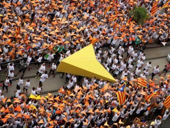 El punter de la Via Lliure, el passat 11 de Setembre a la Meridiana de Barcelona ELISABETH MAGRE