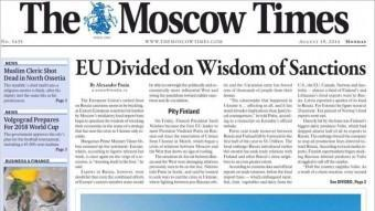 Una portada del diari The Moscow Times EPA