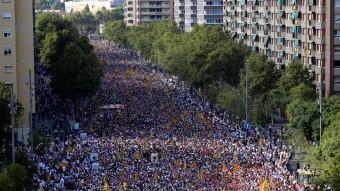 Imatge de la manifestació de la Via Lliure celebrada l'11 de Setembre QUIM PUIG