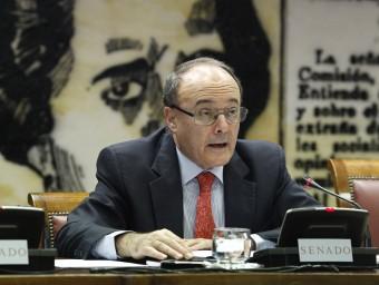 Juan María Linde, durant la seva compareixença ahir al Senat EUROPA PRESS