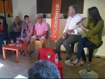 Inés Arrimadas, durant l'acte d'ahir al matí al Coffee Book de Tarragona Ò.P.J